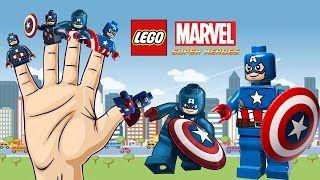 Lego Captain America Cartoon Finger Family | Finger Family | Cartoon Animation Children Songs