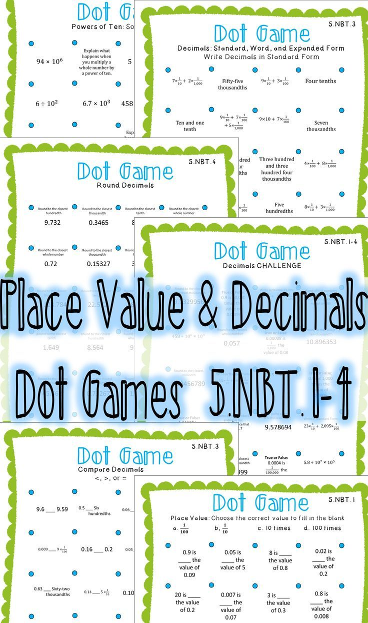 72 best Place Value & Decimals images on Pinterest | Math games, 3rd ...