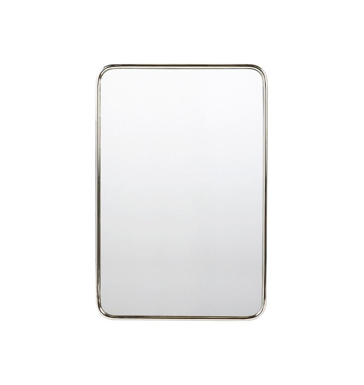 20in. x 30in. Metal Framed Mirror - Rounded Rectangle Polished Chrome