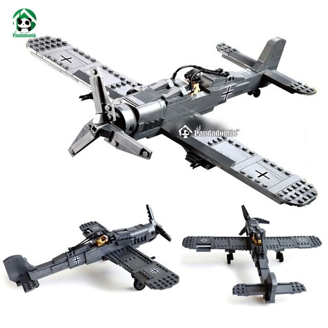 Fighter Plane Military FW190 Building Blocks Educational Bricks Toys Models & Building Toys Compatible with lego Kids Toys