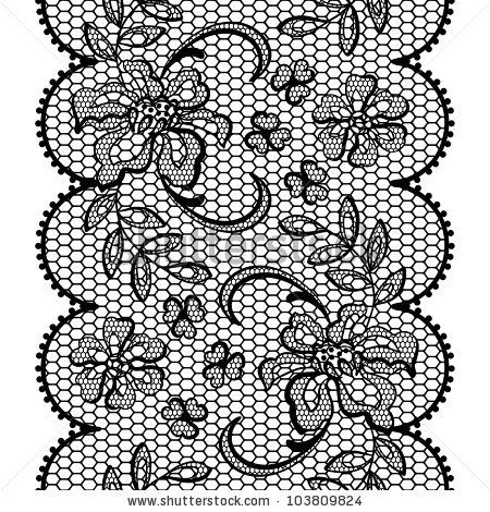 Old lace background, ornamental flowers. Vector texture. by Incomible, via ShutterStock