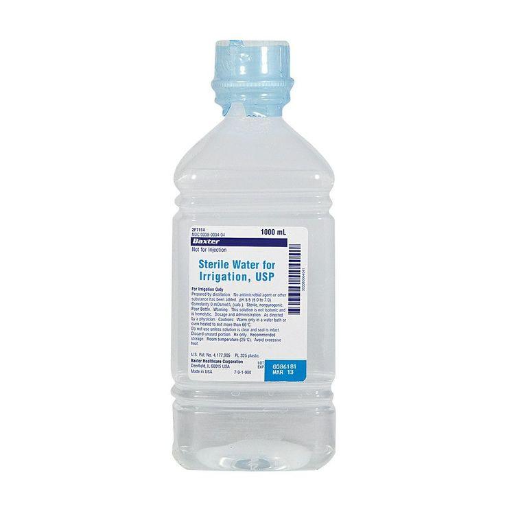 Sterile Water 1000ml Irrigation (Pour Bottle) | Baxter Healthcare #medical #medicalsupplies #pro2medical #health #healthcare #lifestyle #Lubbock  #posture #rehabilitation #nutrition