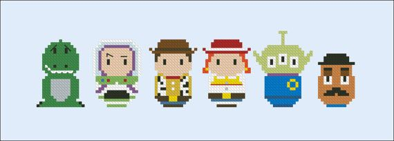 Toy story parody Cross stitch PDF pattern by cloudsfactory