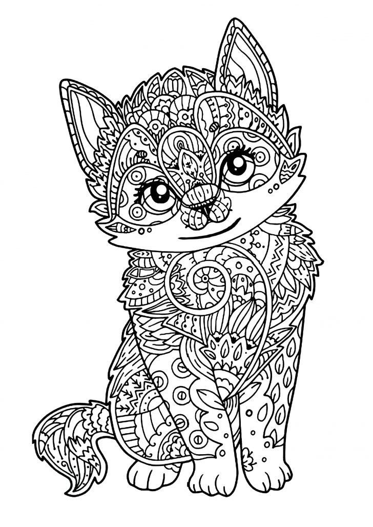Coloring Pages For Kids Hard Coloring Page 43 Stunning Coloring Pages Hard Animals In 2020 Mandala Coloring Pages Kittens Coloring Animal Coloring Books