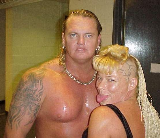 David Heath (Gangrel) & his former wife Gertrude Vachon (Luna Vachon)