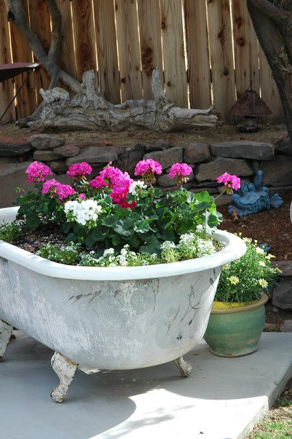 Instead Of Showering Yourself With Water In This Clawfoot Tub, Why Not  Shower Bright And Colorful Flowers? See More At Dandelion House