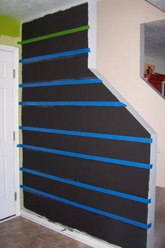 best 20 painting horizontal stripes ideas on pinterest striped walls horizontal painting. Black Bedroom Furniture Sets. Home Design Ideas