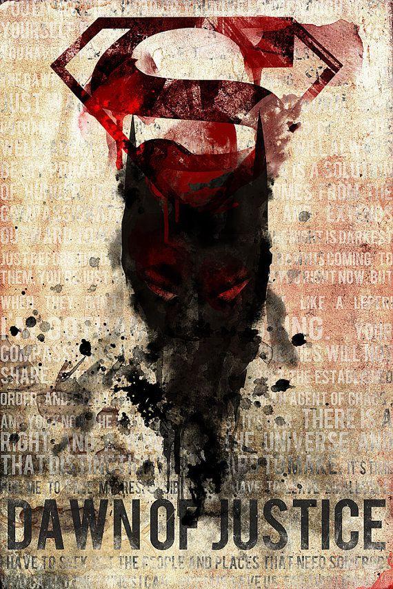 Batman VS. Superman Dawn Of Justice Poster by MarkPaintAndPrints