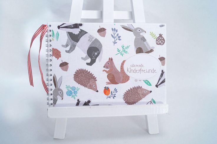 Kinderbücher - Freundebuch Kindergarten Waldtiere - ein Designerstück von Kestadt bei DaWanda
