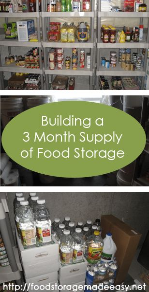 Building a 3 Month Supply of Regular Foods:  Make a plan, do your shop, plan for rotation, and organize your menus