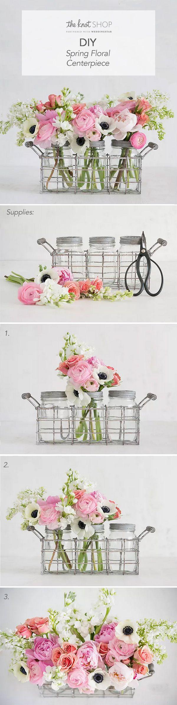 DIY Spring Floral Centerpieces