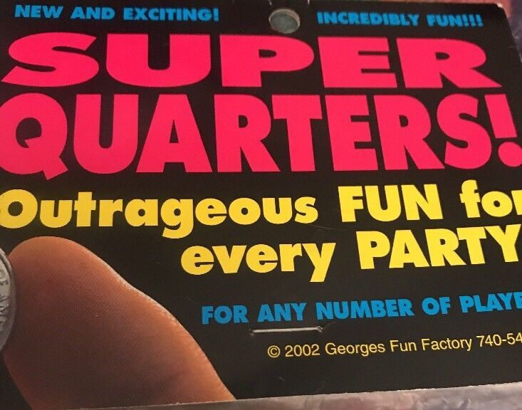 SUPER QUARTERS! Outrageous FUN for every Party Drinking Game Ladies Night  | eBay