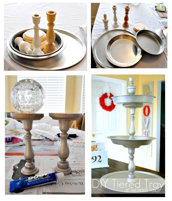 Make Your Own Tiered Tray Tutorial With Images Tiered Tray Diy Tiered Tray Tiered Tray Decor