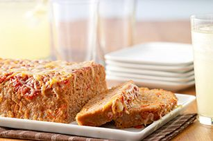Cheesy Turkey Meatloaf recipe - Best meatloaf I've ever had.  I did substitute panko bread crumbs for the ritz crackers though.