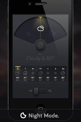 Weather Dial - A Simpler, More Beautiful Weather App By David Elgena. | #design #ui #ux