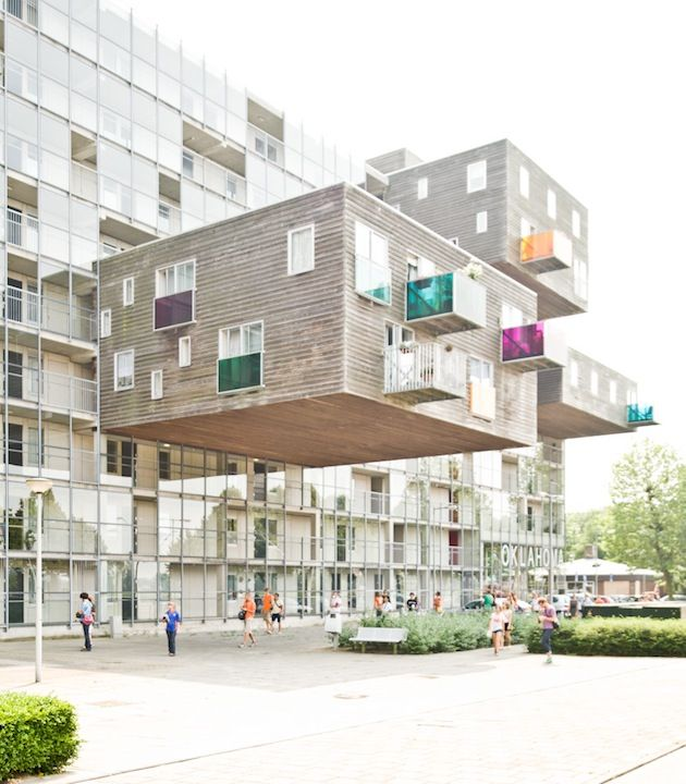 Netherlands Colorful Home For The Elderly  I think they just prove the theory of gravity wrong!
