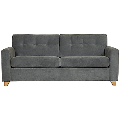 Buy John Lewis Zack Medium Sofabed, Granite online at JohnLewis.com - John Lewis £699
