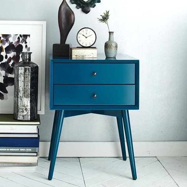 Mid-Century Modern nightstand #westelm http://www.decoist.com/2014-01-03/affordable-furniture-decor-finds/mid-century-modern-nightstand/