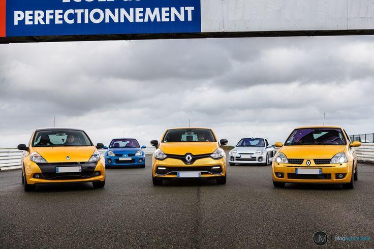 Saga Renault Sport : les Clio RS et V6 sur le circuit d'Abbeville