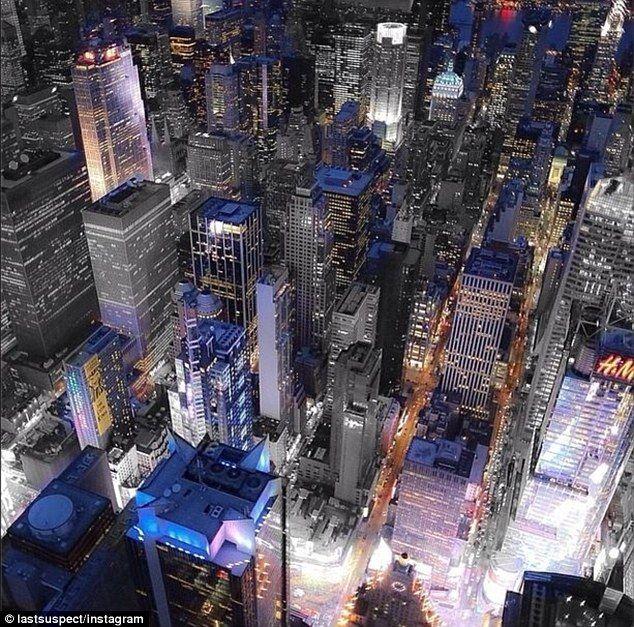 down shot on New York