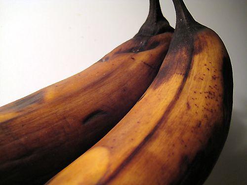 Chocolate Chip Banana Bread - Blackened Bananas