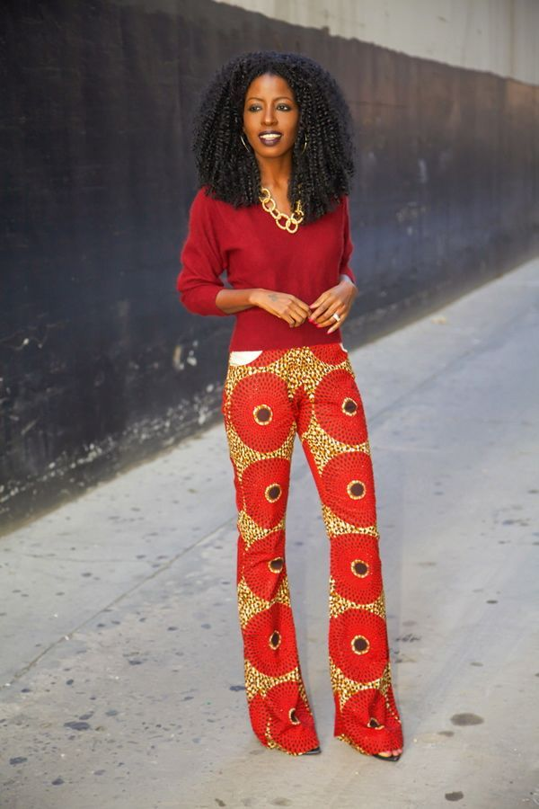 When I came across these pants from the Sunny Rose collection, it was love at first sight. Since the brand is based in Lagos, Nigeria, my big bro came to the rescue…tracked them down and gifted them t