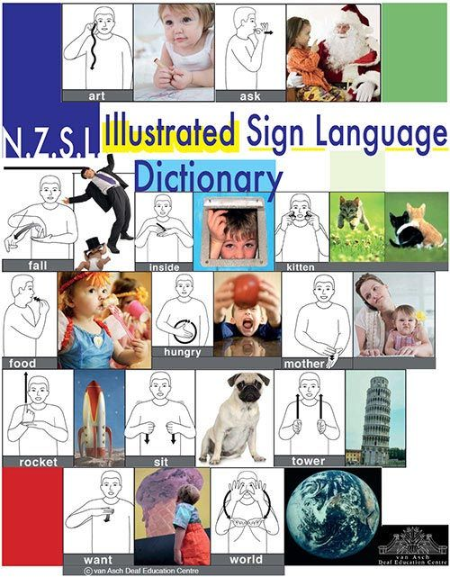 NZSL Illustrated Sign Language Dictionary Cat. #463