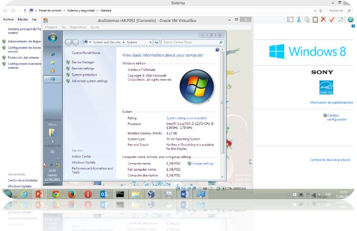 Máquinas Virtuales con Virtual Box:  Windows 7 sobre Windows 8.1