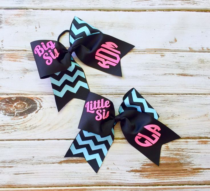 Big Sis, Little Sis Glitter Cheer bows, Monogrammed gifts for Cheerleaders, Sorority sister gifts, Preppy bows