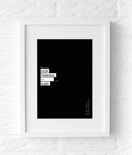 black white poster text sleep zwart wit tekst poster