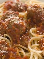 True Italian Meatballs with ground pork, veal, and beef