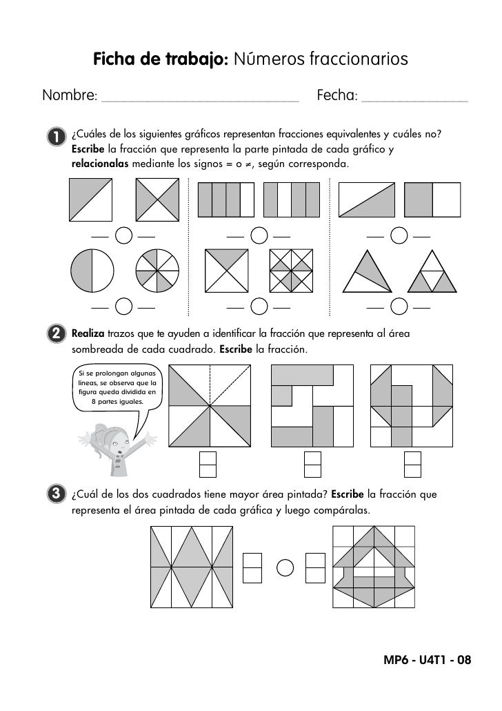 Fichas De Trabajo Fracciones Y Probabilidad Math Activities Math Class Primary Maths