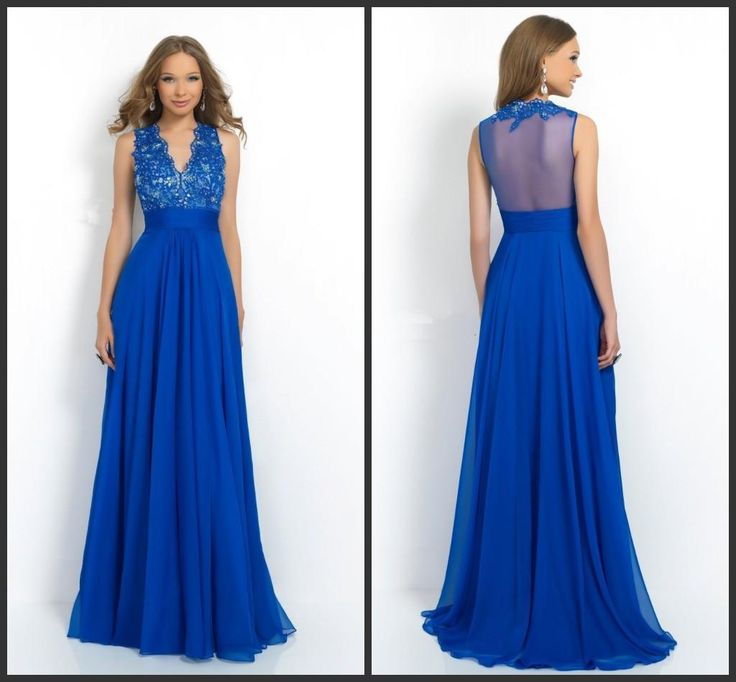 Vintage Prom Floor Length Chiffon Dress V Neck Appliques Sequin Bling Party Gown Sleeveless Iullsion Back Sexy Designer Dress Fashion Style Prom Dress Cheap Prom Dress Sale From Lovemydress, $78.5| Dhgate.Com