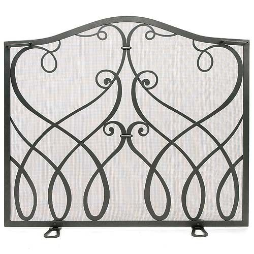 Cypher Collection Small Flat Fireplace Screen Graphite