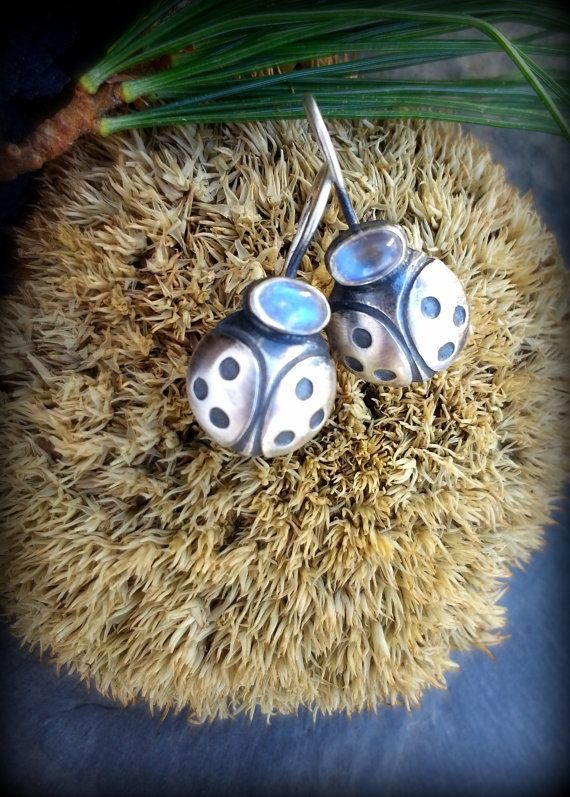 Sterling Silver #Ladybug Earrings by TandBrie