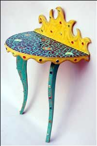 Mosaic wall table