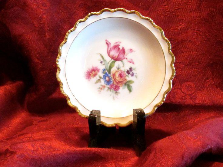 Miniature Floral Plate, Vintage Winterling Bavaria Miniature Floral Bouquet Plate, laslovelies