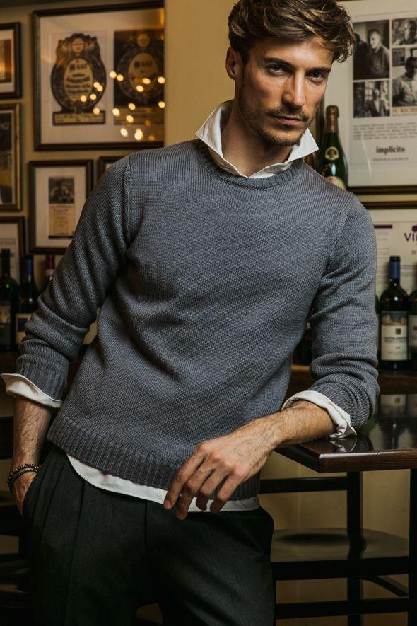 Men's Fashion ~ casual grey