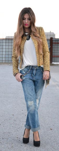 56 best images about F A S H I O N: Boyfriend Jeans on Pinterest ...