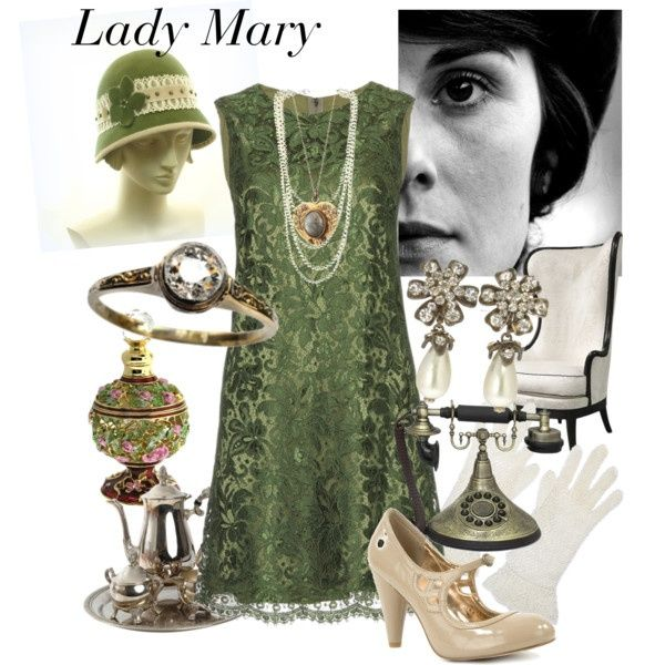 Downton Abbey  Lady Mary.... Love it all!!!! the shoes, dress and hat look like something i would really wear.