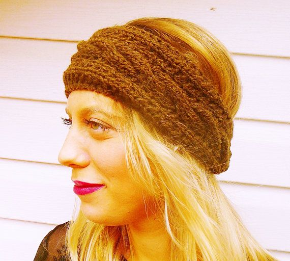 Hey, I found this really awesome Etsy listing at https://www.etsy.com/listing/208420448/brown-women-headband-fall-accessory-knit