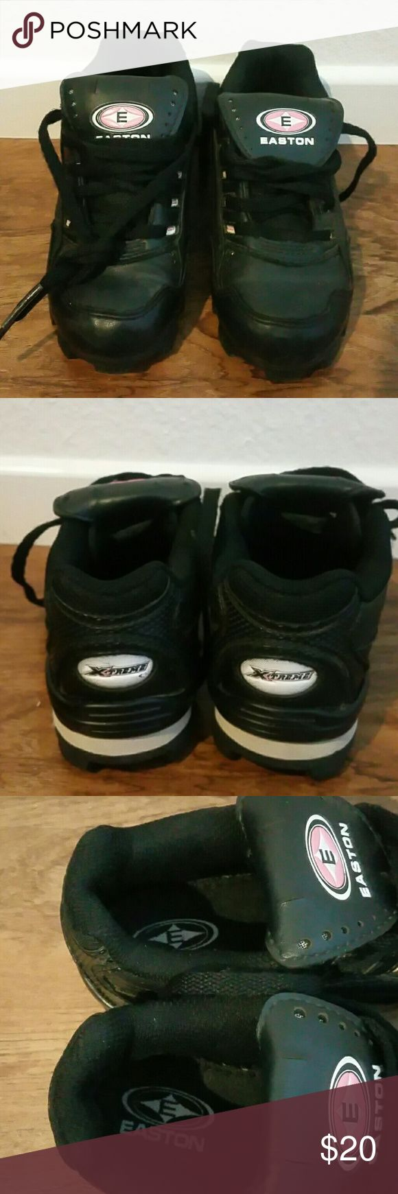 Toddler Girls cleats size 11 by Easton Girls cleats size 11 by Easton they are in great used condition. Please see photos for more details. I am open to all offers. Easton  Shoes