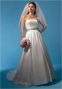 Nowa, Unikalna, Amerykańska Suknia Ślubna Firmy Alfred Angelo, Styl: 2085, Rozmiar 10 (USA), Kolor: Diamond White (Biały Diament)/Lettuce (Sałata)