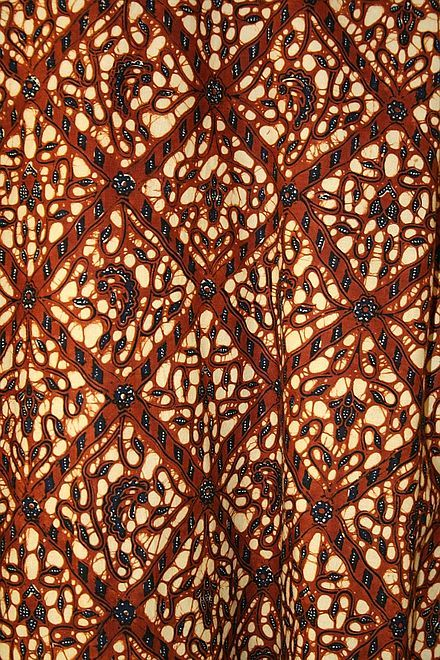 Batik de Java central (motif végétal traditionnel)