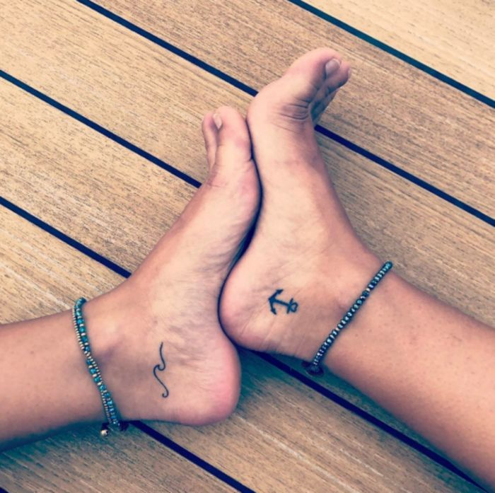 small tattoos anchor font on the foot of women's tattoo motifs # tattoos #Ale