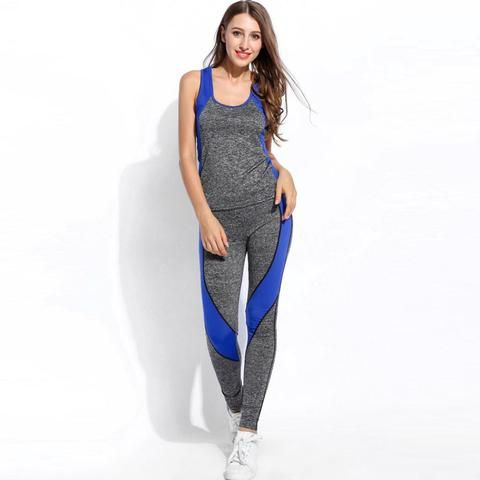 2017 Summer Bodybuilding Suit Women 2 Piece Set Pants Tracksuit Fitness Clothing for Women Sporting Set
