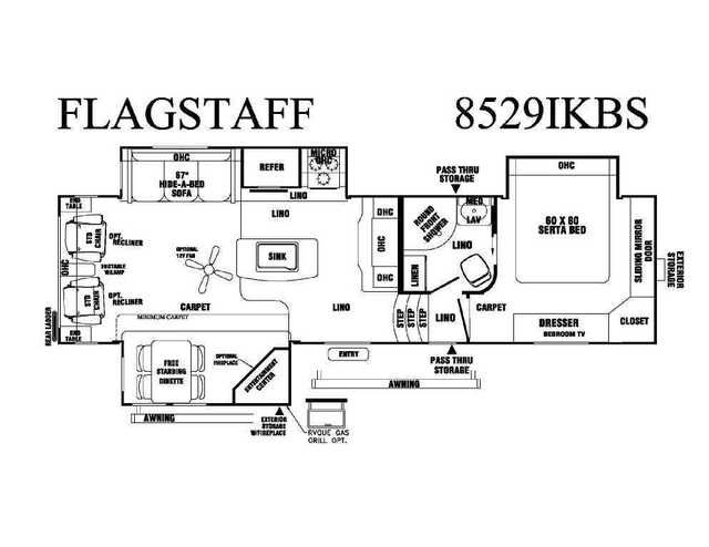 2016 New Forest River Flagstaff 8529IKBS Fifth Wheel in California CA.Recreational Vehicle, rv, 2016 Forest River Flagstaff 8529IKBS Great new floorplan with bedroom slideout! Finally, what we have been begging for from Flagstaff has finally arrived! Their very first bedroom slide out fifth wheel! They have taken their best selling island kitchen pletely redone the kitchen for more storage, added a huge quad door refridgerator/freezer, and now have a true bedroom slide out with queen bed…