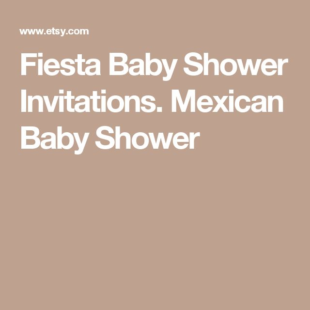 Fiesta Baby Shower Invitations. Mexican Baby Shower