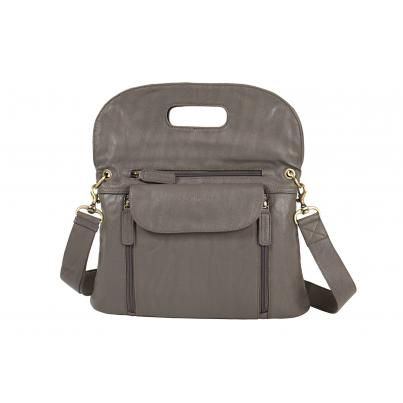 """kelly moore's posey2 bag (grey) / my never-ending search for the """"perfect"""" bag: well-designed structure, versatile, lightweight, plenty of pockets, not too big, not too small, easy to organize & keep clean /// i think we may have a winner! (be sure to watch the video)"""