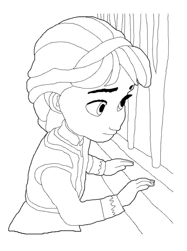 Baby Anna Frozen Coloring Pages